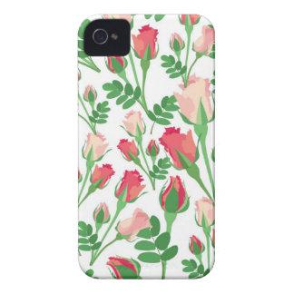 Pastel Pink Rosebuds iPhone 4 Cases