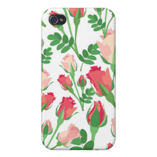 Pastel Pink Rosebuds Case For iPhone 4