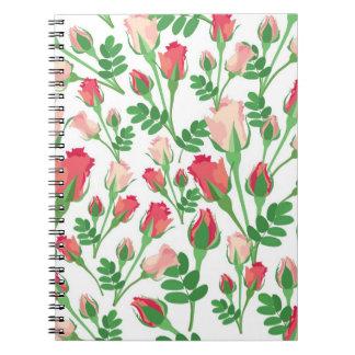 Pastel Pink Rosebuds Notebook
