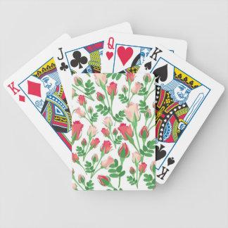Pastel Pink Rosebuds Playing Cards