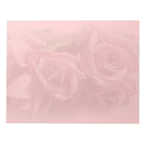 Pastel Pink Roses Note Pad