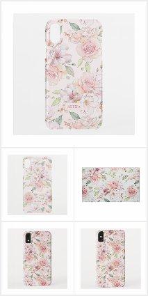 Pastel pink roses pattern