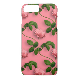 Pastel Pink Roses With Stems Pattern iPhone 8 Plus/7 Plus Case