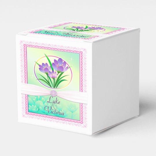 Seafoam Green Wedding Ideas: Pastel Pink & Seafoam Green Spring Flowers Wedding Favor