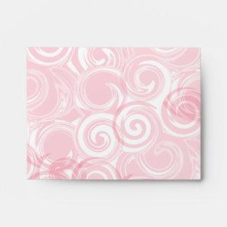Pastel Pink Spiral Background Envelopes