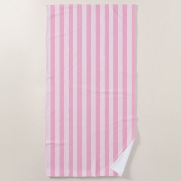 Beach Themed Pastel Pink Striped Beach Towel