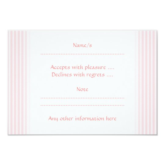 Pastel Pink Stripes. Card