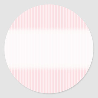 Pastel Pink Stripes. Classic Round Sticker