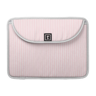 Pastel Pink Stripes. Sleeve For MacBooks
