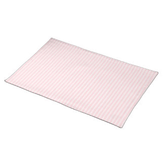 Pastel Pink Stripes. Cloth Placemat