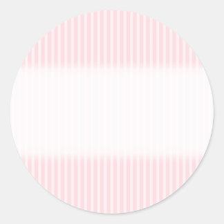 Pastel Pink Stripes. Round Stickers