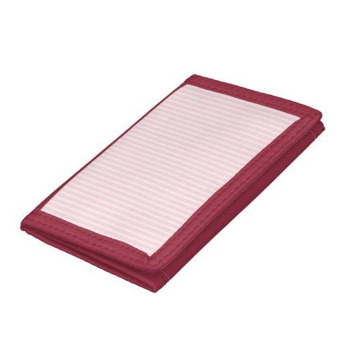 Pastel Pink Stripes. Trifold Wallets