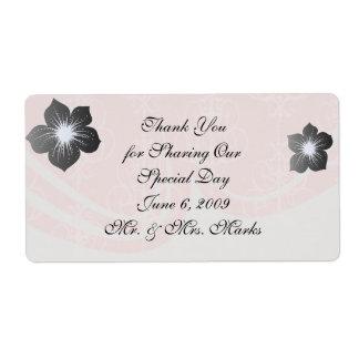 pastel pink swirl damask chic design shipping label