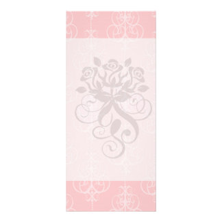 pastel pink swirl damask chic design customized rack card