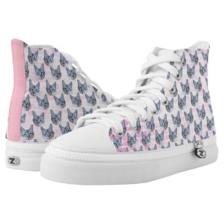 Pastel Pink Tito Cat High-Top Sneakers