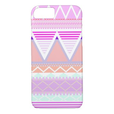 Aztec Themed Pastel Pink Tribal iPhone 8/7 Case