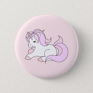 Pastel pink unicorn button