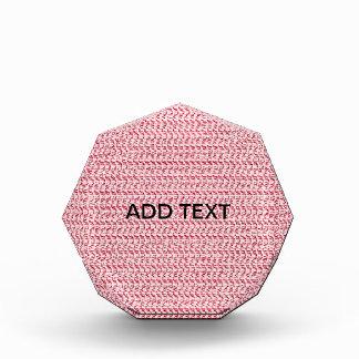 Pastel Pink Weave Mesh Look Acrylic Award