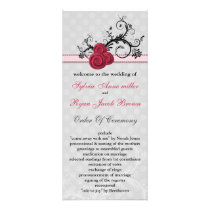 pastel  pink Wedding program