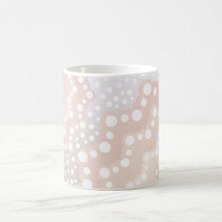 Pastel Pink White & Silver Lace Mug