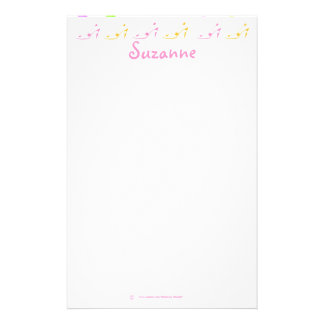 Pastel Pink Yellow Girly High Heel Shoe Personalized Stationery