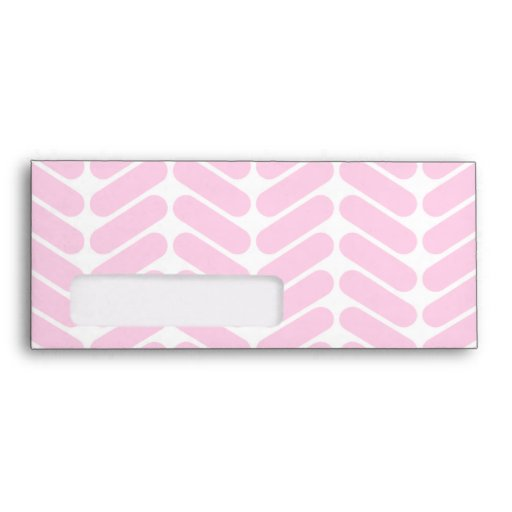 Pastel Pink Zigzag Pattern inspired by Knitting. Envelope