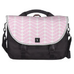 Pastel Pink Zigzag Pattern inspired by Knitting. Bags For Laptop