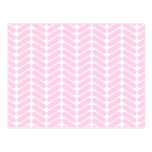 Pastel Pink Zigzag Pattern inspired by Knitting. Post Cards