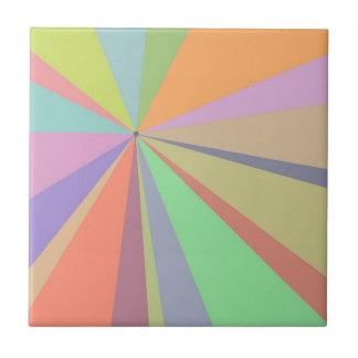 Pastel Pinwheel Multicolored Design Ceramic Tile