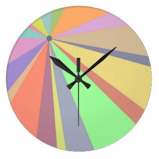 Pastel Pinwheel Multicolored Design Wallclocks