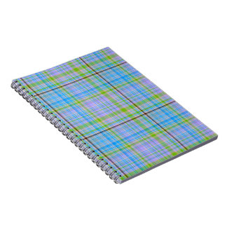 Pastel Plaid Journal Notebook