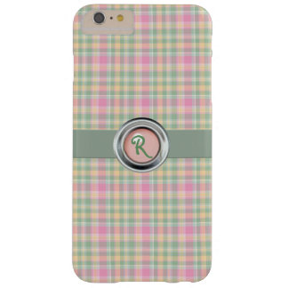 Pastel Plaid Monogram iPhone 6 Plus Case