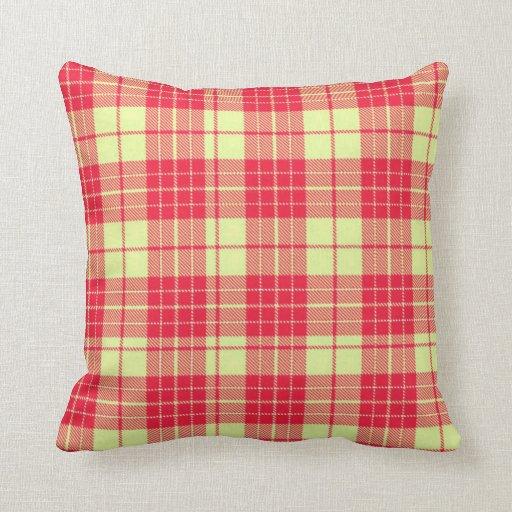 Pastel Plaid  Throw Pillow