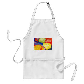 Pastel Playing Fields (abstract expressionism) Adult Apron