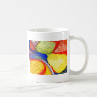 Pastel Playing Fields (abstract expressionism) Coffee Mug