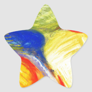 Pastel Playing Fields (abstract expressionism) Star Sticker