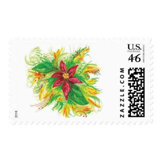 Pastel Poinsettia Postage