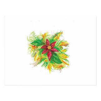 Pastel Poinsettia Postcard