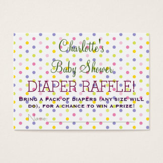 Pastel Polka Dot Baby Shower Diaper Raffle Tickets