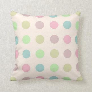 Pastel Polka Dot Pillow