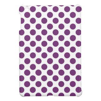 Pastel Polka Dot Purple on White iPad Mini Cases
