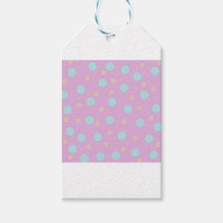 Pastel polka dot spots gift tags