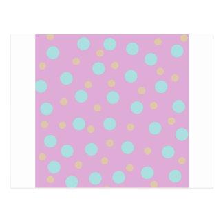 Pastel polka dot spots postcard