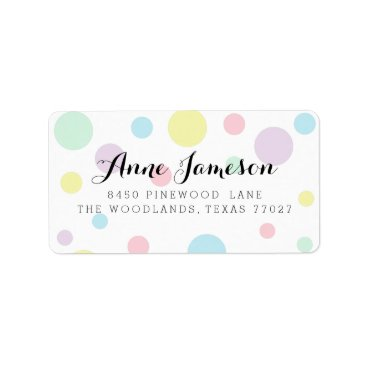 Toddler & Baby themed Pastel Polka Dots Address Labels