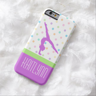 Pastel Polka-Dots Gymnastics in Lavender Barely There iPhone 6 Case