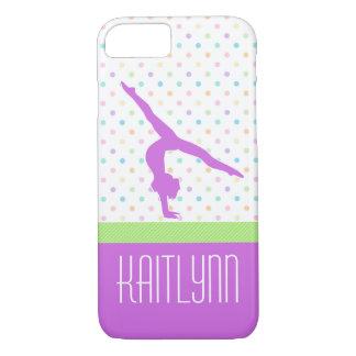 Pastel Polka-Dots Gymnastics in Lavender iPhone 8/7 Case