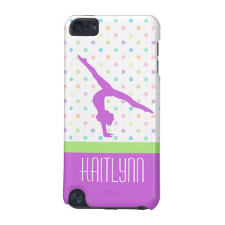 Pastel Polka-Dots Gymnastics in Lavender iPod Touch 5G Covers