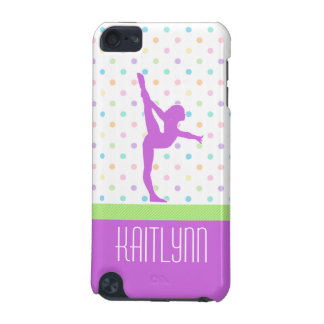 Pastel Polka-Dots Gymnastics in Lavender iPod Touch (5th Generation) Covers