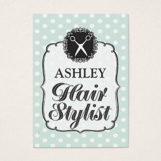 Pastel Polka Dots Hair Stylist Appointment Card