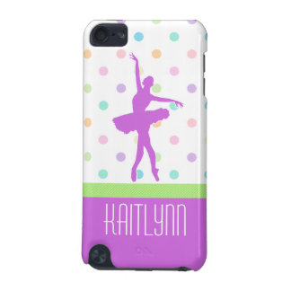 Pastel Polka-Dotted Tutu Dancer With Purple Detail iPod Touch (5th Generation) Case